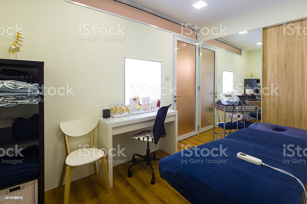 Chiropractic Treatment Room stock photo