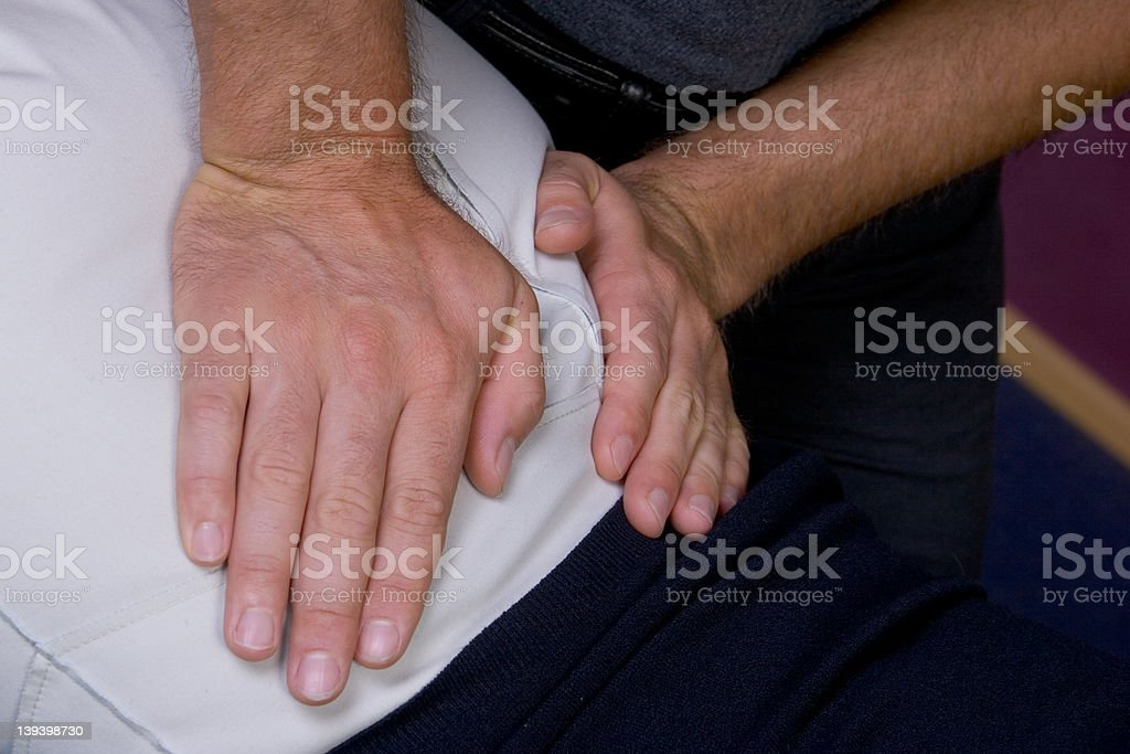 Chiropractor - hands on #001 royalty-free stock photo