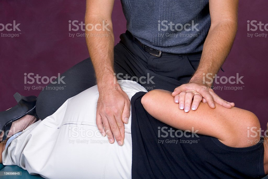 Chiropractor - hands on #003 royalty-free stock photo