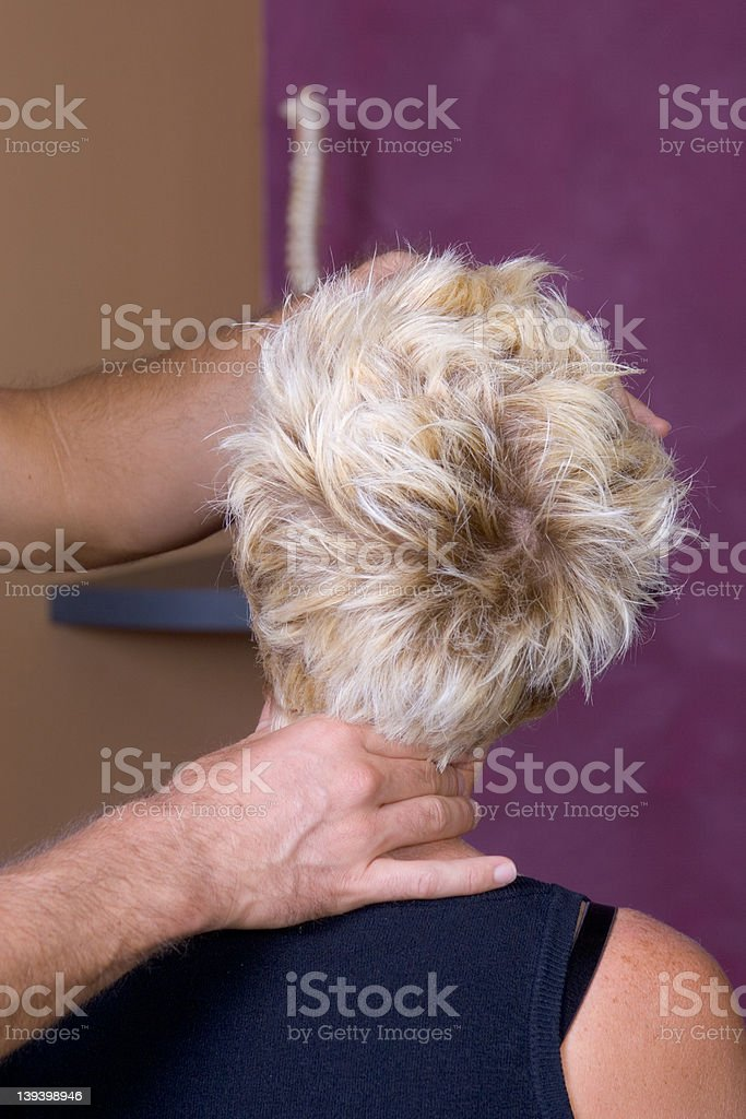 Chiropractor - hands on #004 royalty-free stock photo