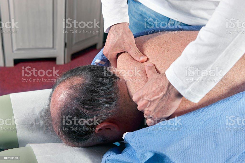 Chiropractor / orthopedist at work royalty-free stock photo