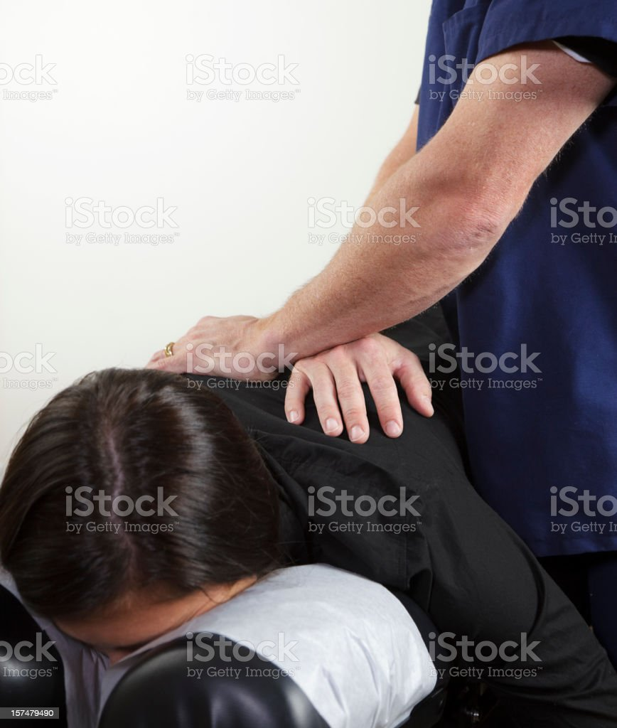 Chiropractor Patient royalty-free stock photo