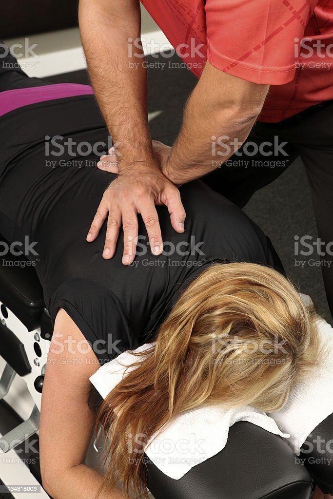 Chiropractor royalty-free stock photo