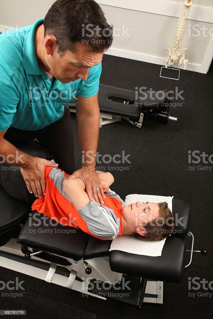 Chiropractor stock photo