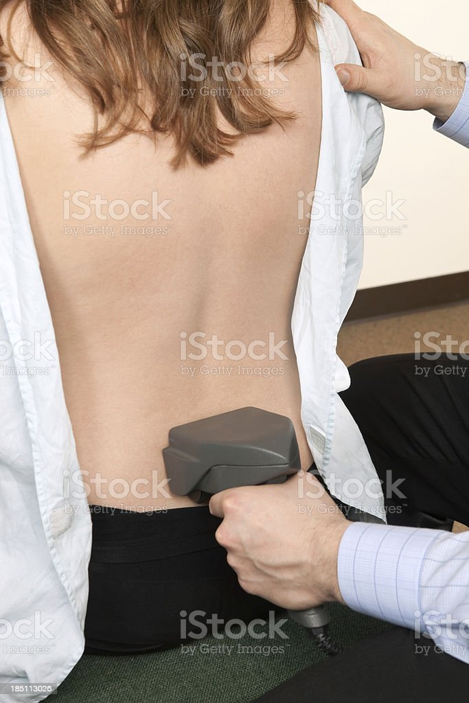 Chiropractor Thermal Scanning Back Nervous System Function stock photo