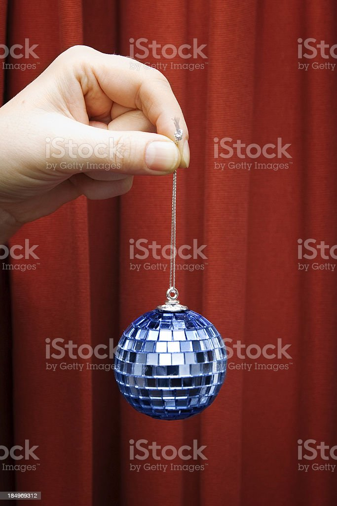 Chirstmas disco ball ornament royalty-free stock photo