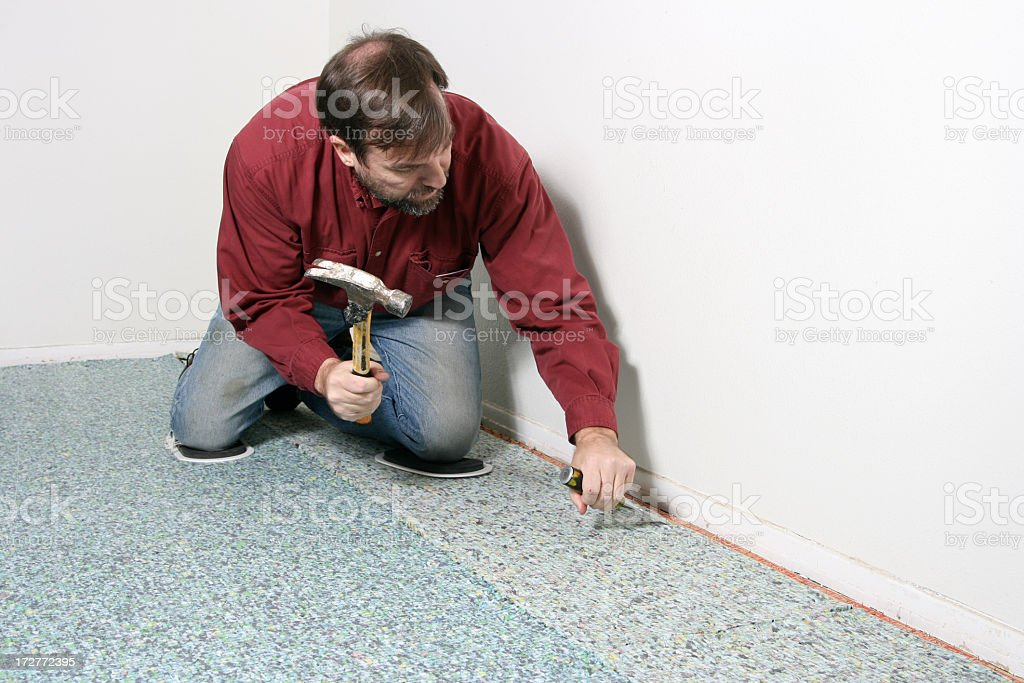 Chiseling at Work stock photo