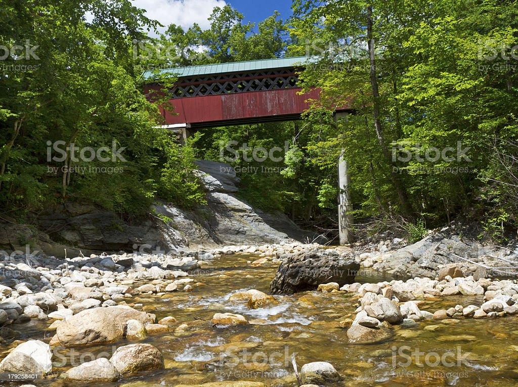 Chiselville Covered Bridge stock photo