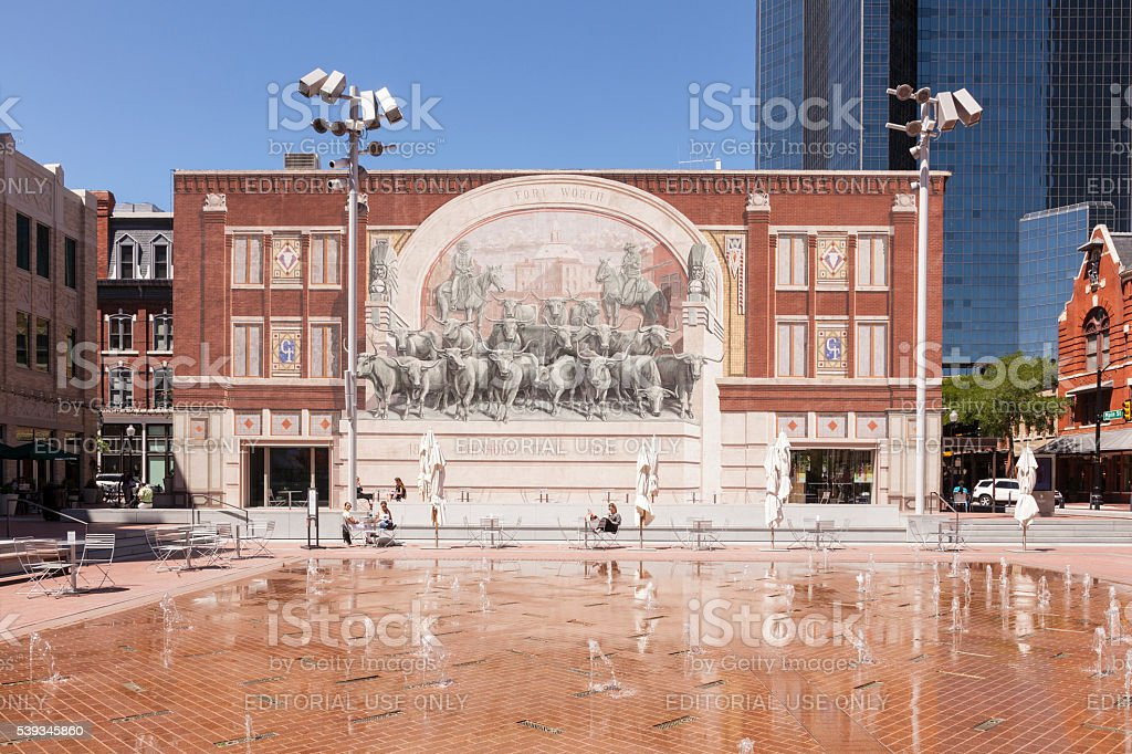 Chisholm Trail Monument in Fort Worth stock photo