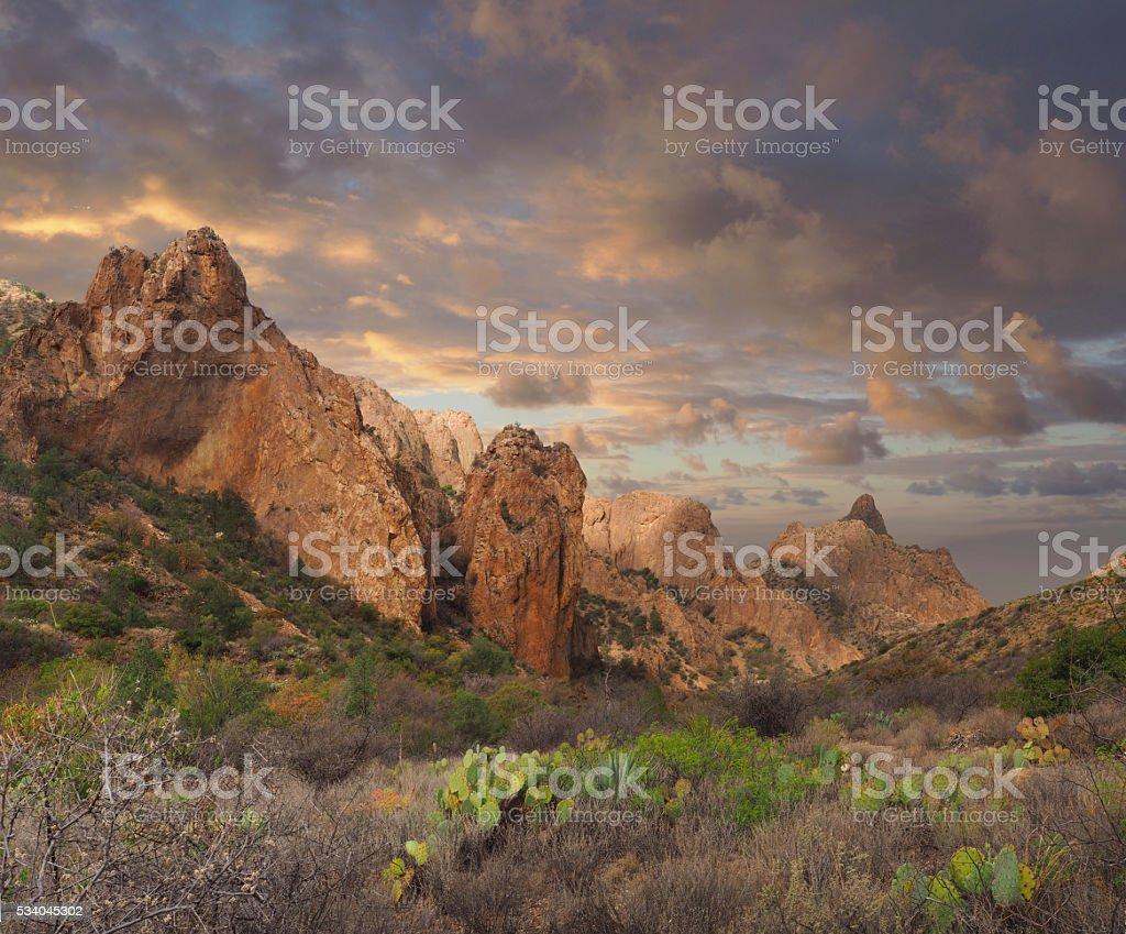 Chisos Basin Big Bend National Park stock photo