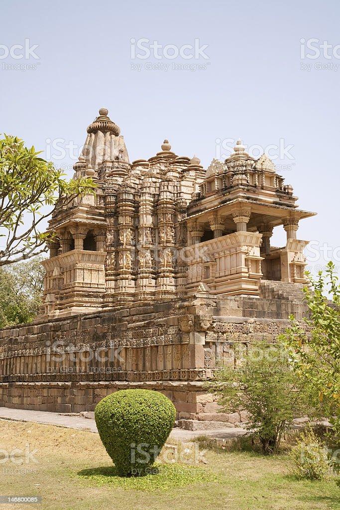 Chitragupta temple, Khajuraho, India royalty-free stock photo