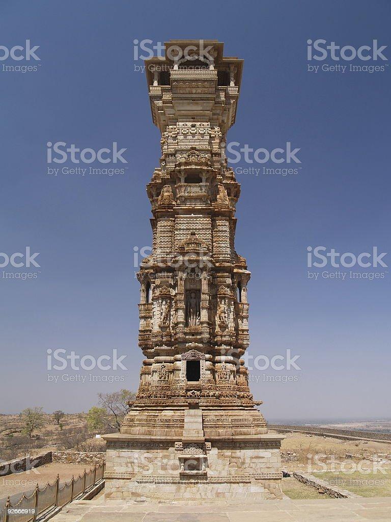 Chittorgarh citadel ruins in Rajasthan, India royalty-free stock photo