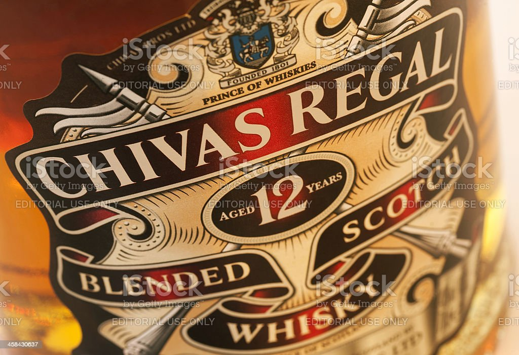 Chivas Regal 12 years old stock photo