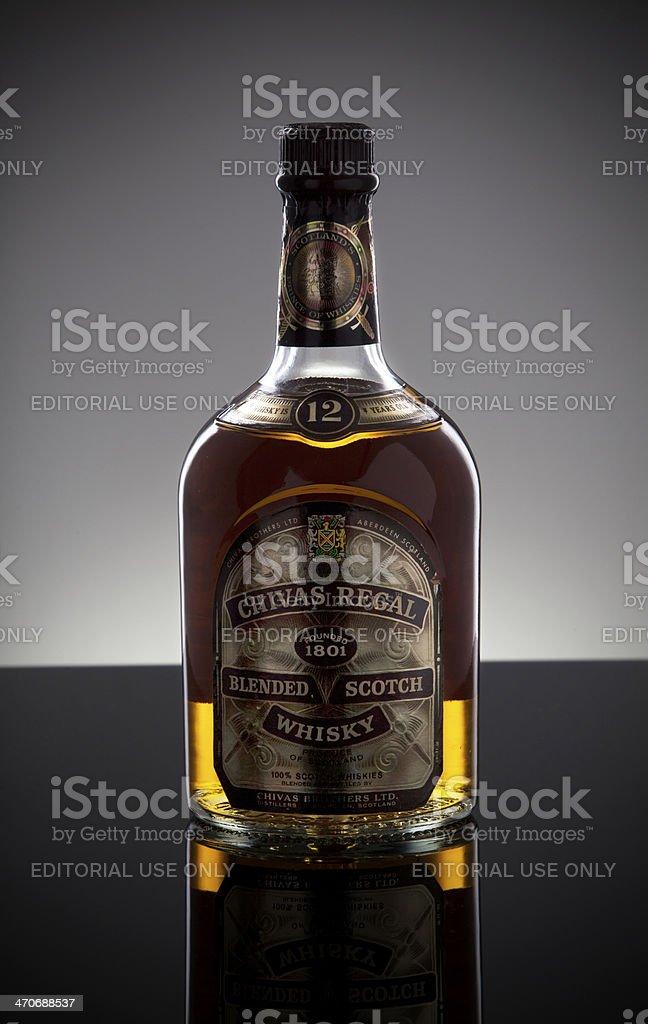 Chivas Regal Blended Scotch Whisky 12 years bottle stock photo