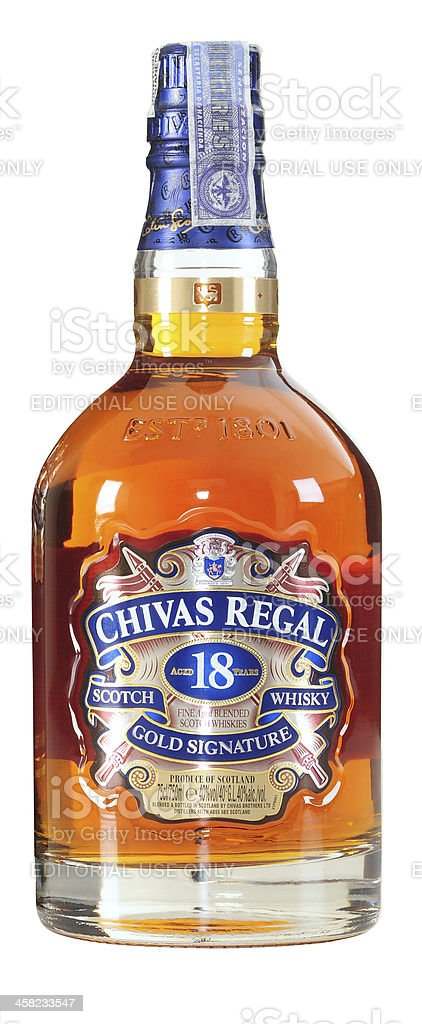 Chivas Regal Blended Scotch Whisky. 18 Years. stock photo
