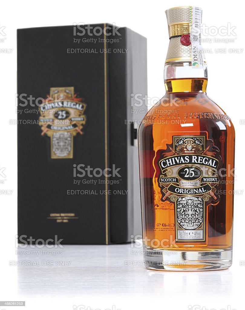 Chivas Regal Blended Scotch Whisky 25 years. stock photo