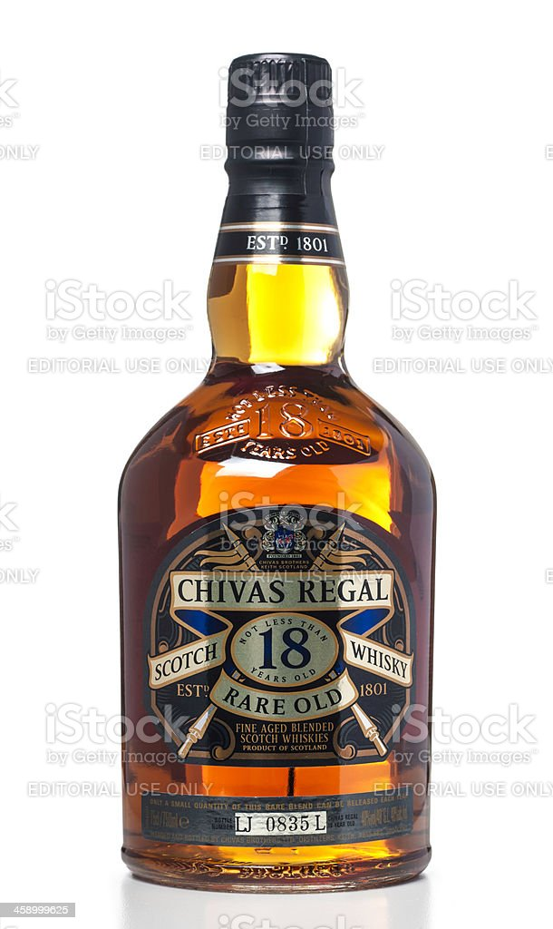 Chivas Regal Blended Scotch Whisky Rare Old 18 Years bottle stock photo
