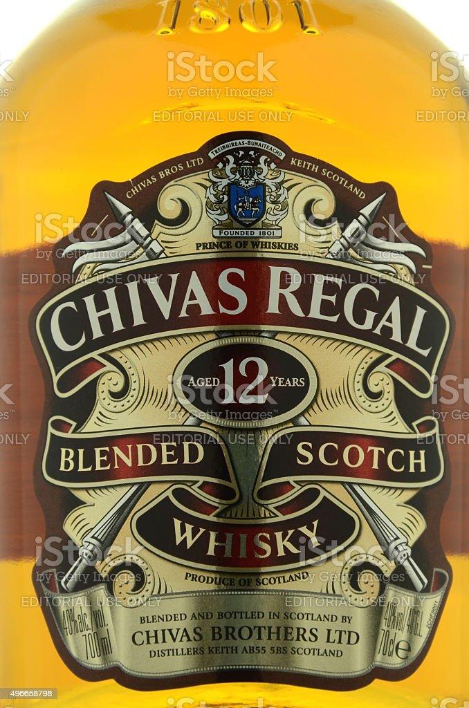 Chivas Regal whisky isolated on white background stock photo