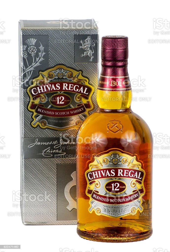 Chivas Regal with presentation box stock photo