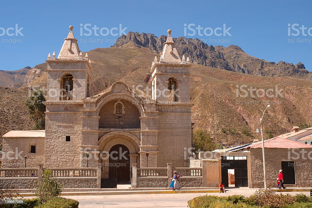 Chivay, Peru stock photo