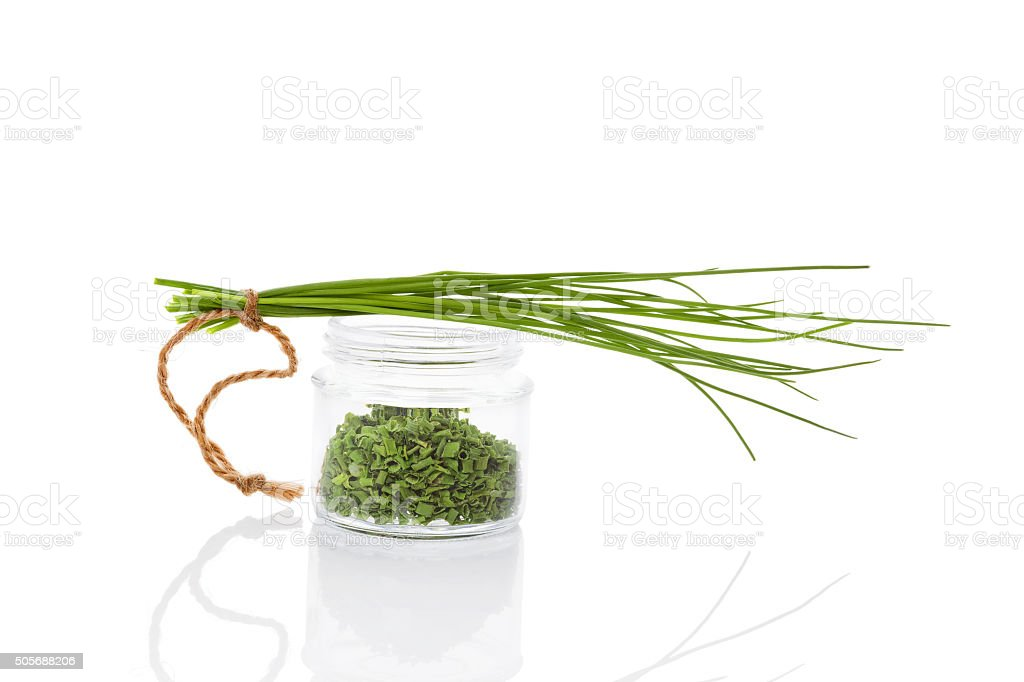 Chives, culinary aromatic herbs. stock photo