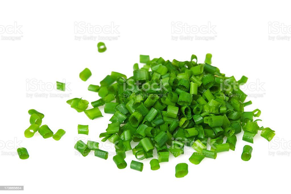 chives cut stock photo