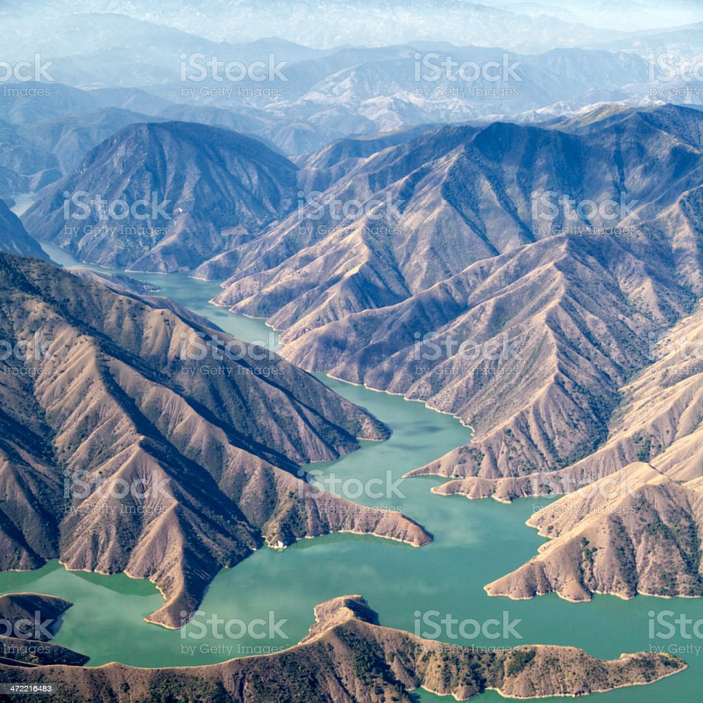 Chixoy reservoir, Guatemala stock photo
