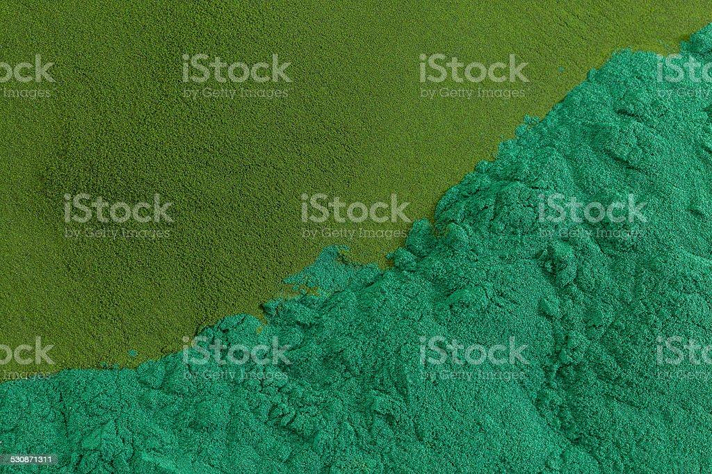 chlorella and spirulina stock photo