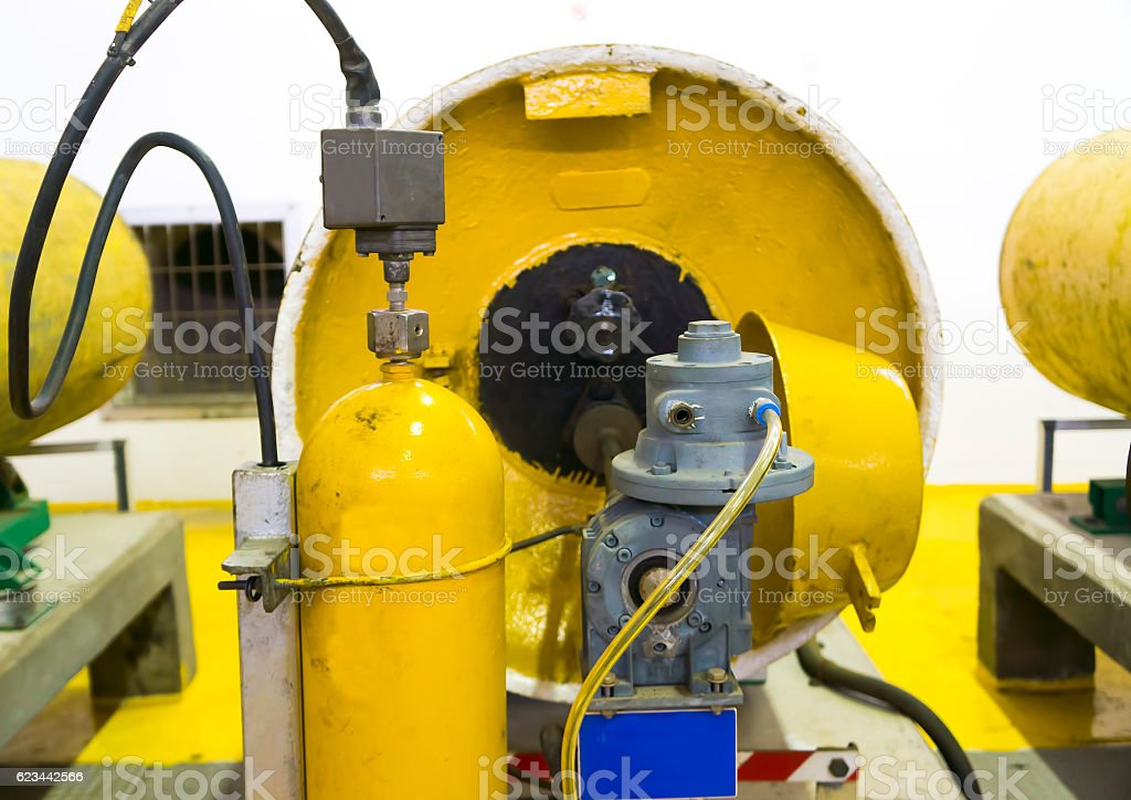 Chlorine storage stock photo