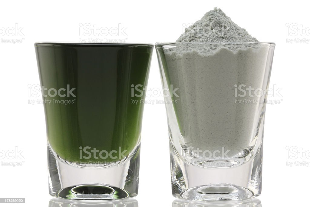 Chlorophyll Fine Powder stock photo