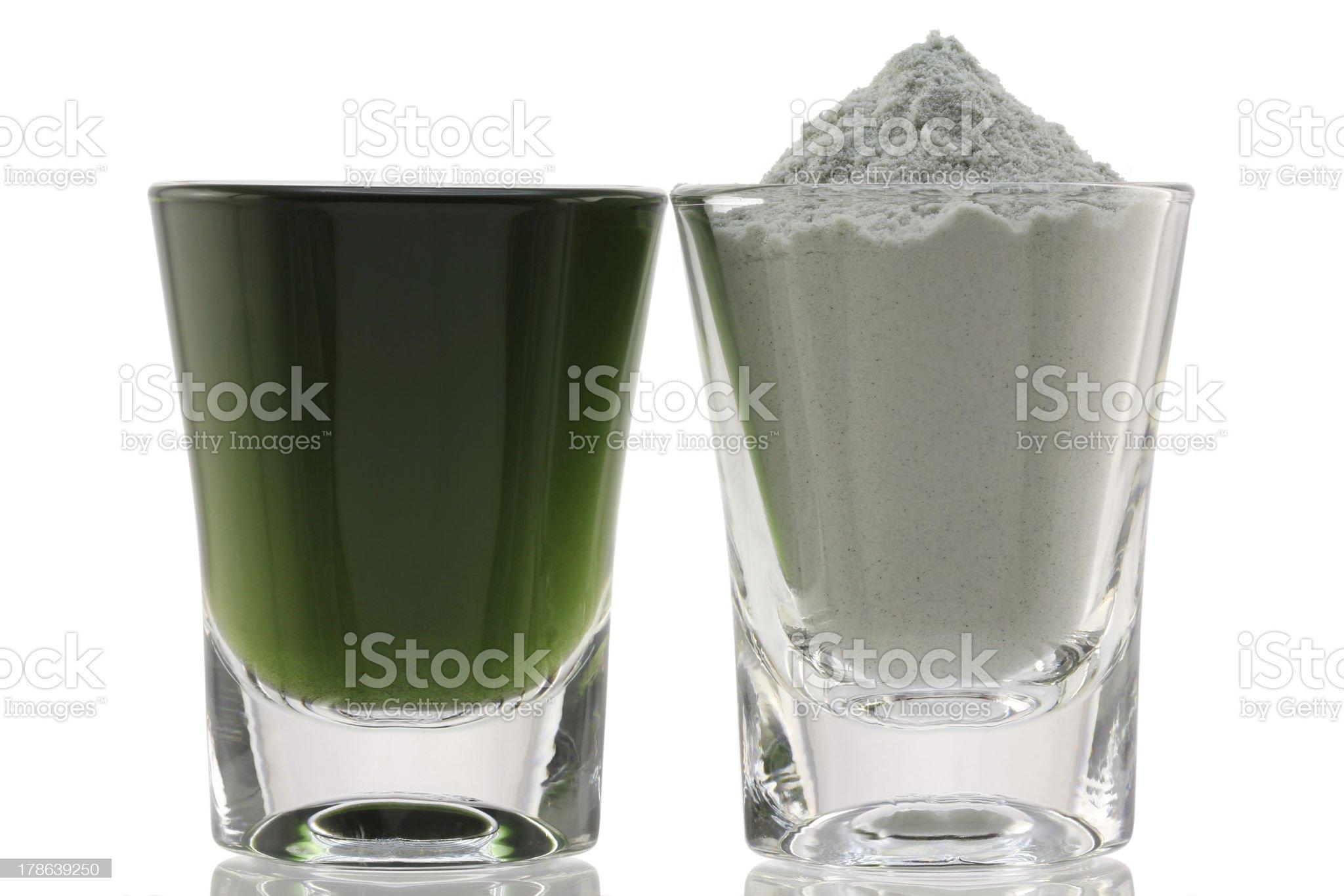Chlorophyll Fine Powder royalty-free stock photo