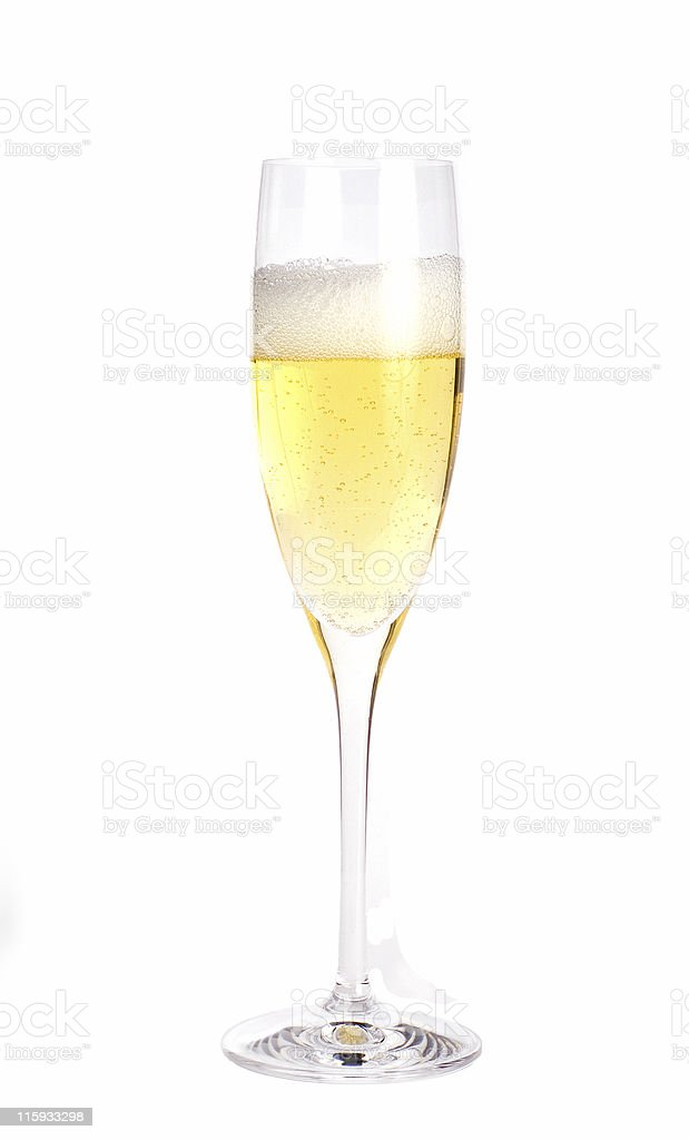 Chmapagne glass with champagne royalty-free stock photo
