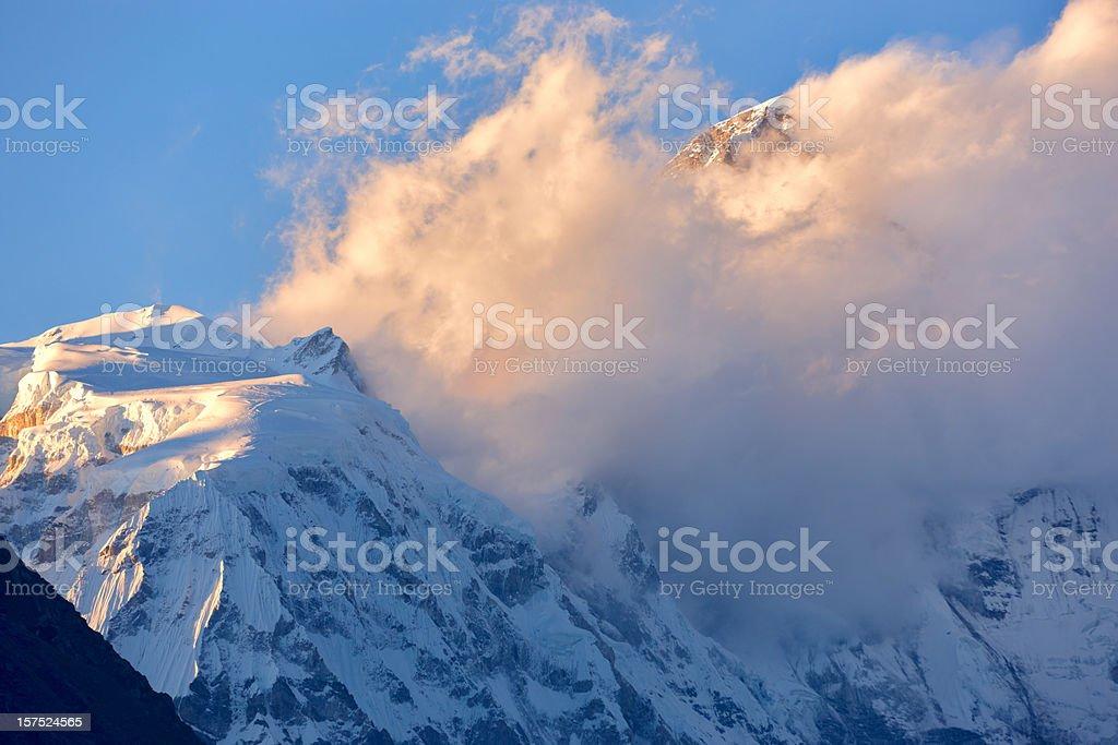 Cho Oyu. Everest Circuit. Nepal motives. royalty-free stock photo