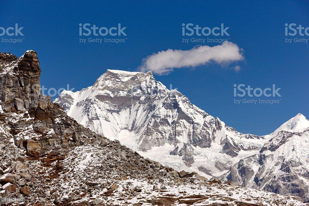 Cho Oyu. Everest Circuit. Nepal motives. stock photo