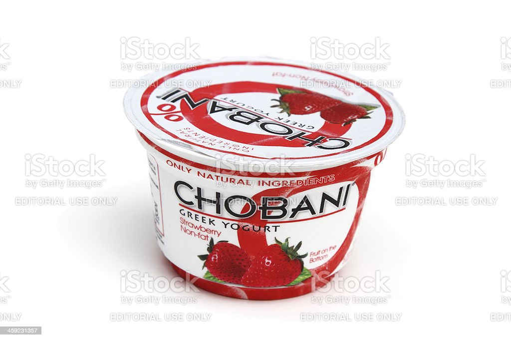 Chobani Greek yogurt stock photo