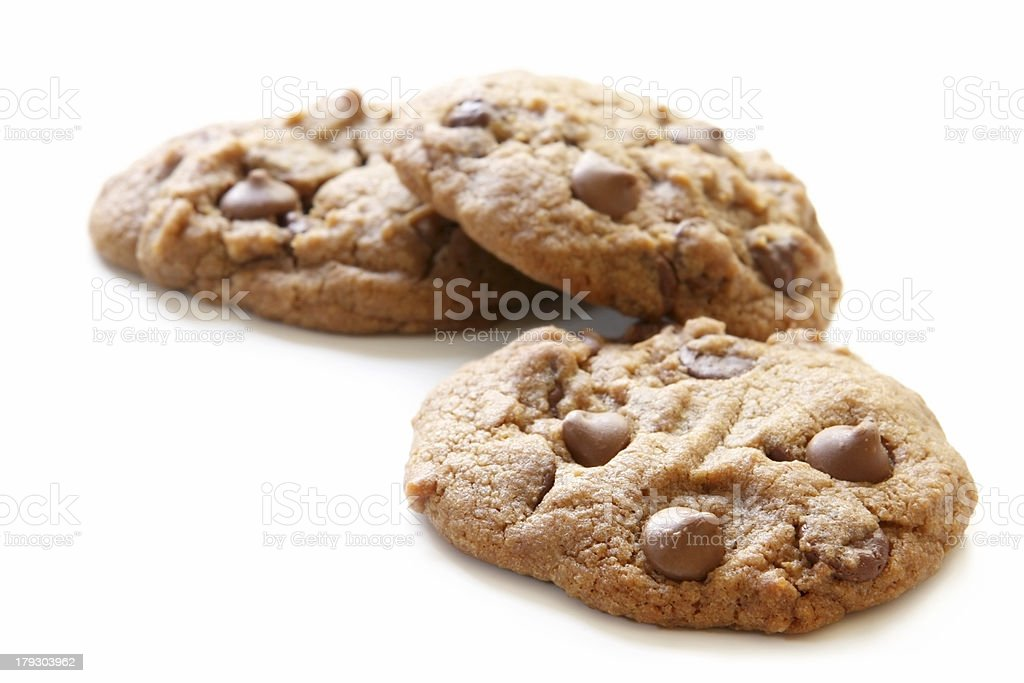 Choc Chip Cookies royalty-free stock photo