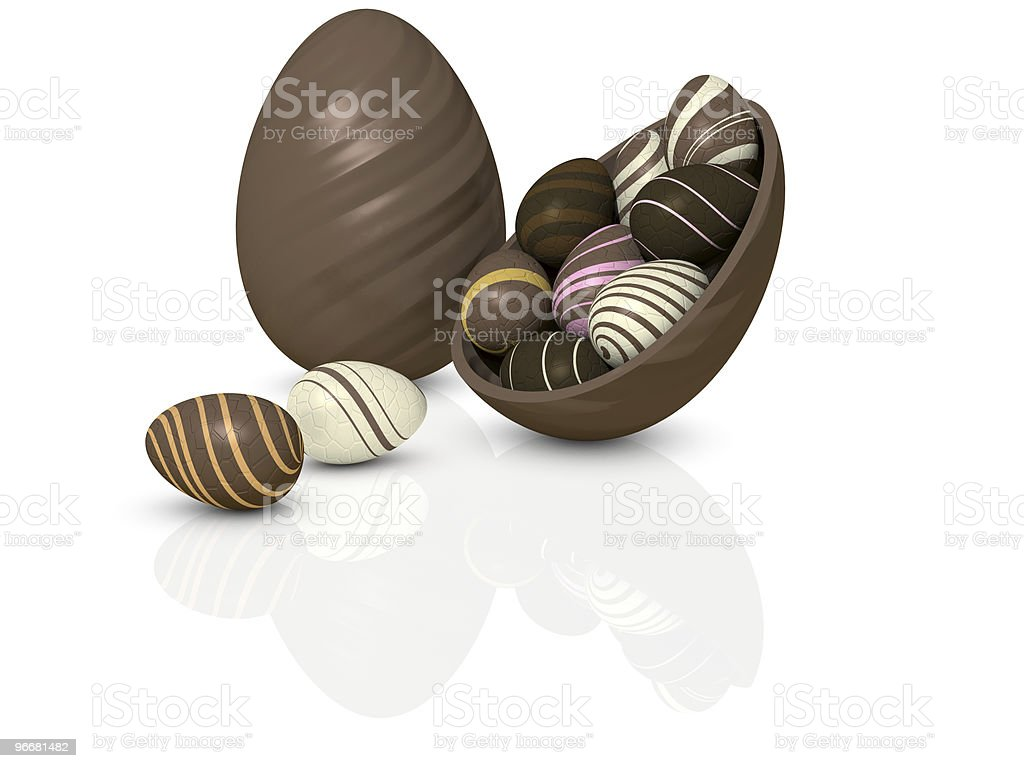 Choccy eggs royalty-free stock photo