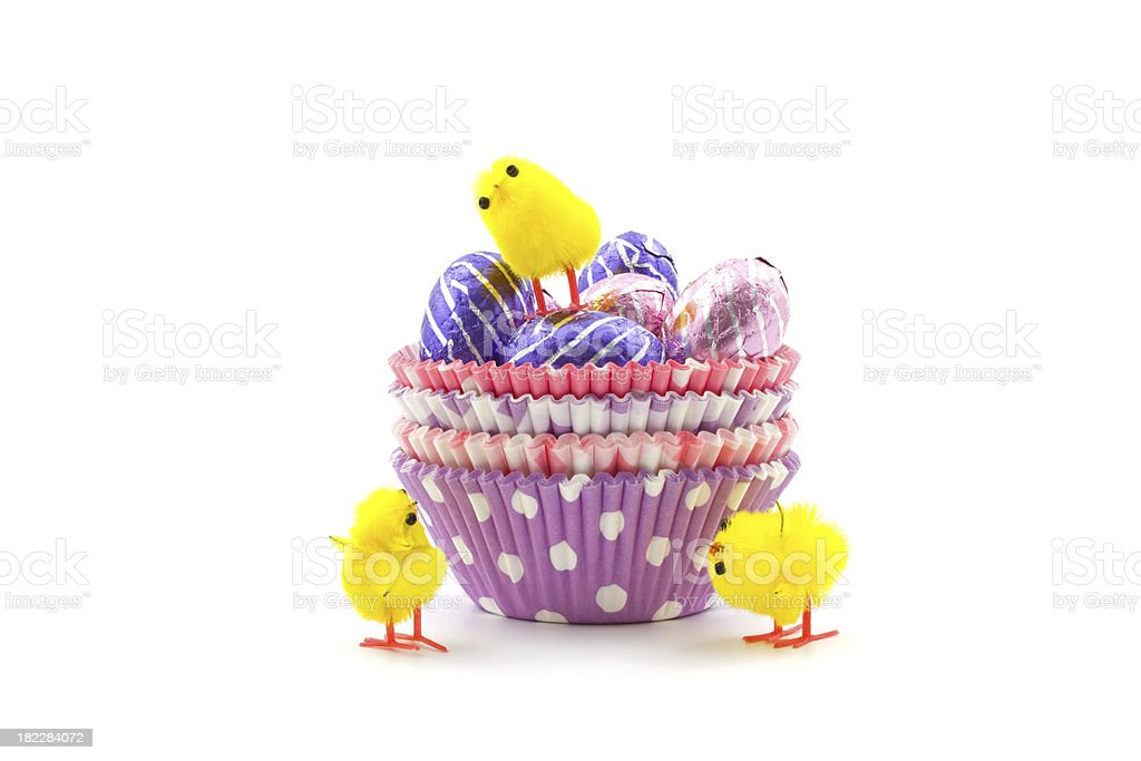 choclate eggs in cup royalty-free stock photo