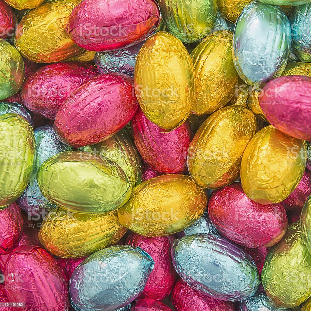 Chocolat easter eggs royalty-free stock photo