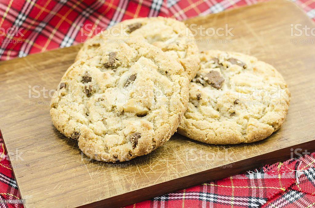 Chocolate almond cookies royalty-free stock photo
