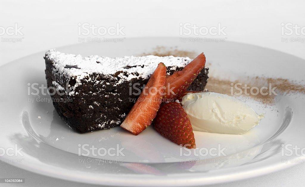 Chocolate & Almond Torte royalty-free stock photo