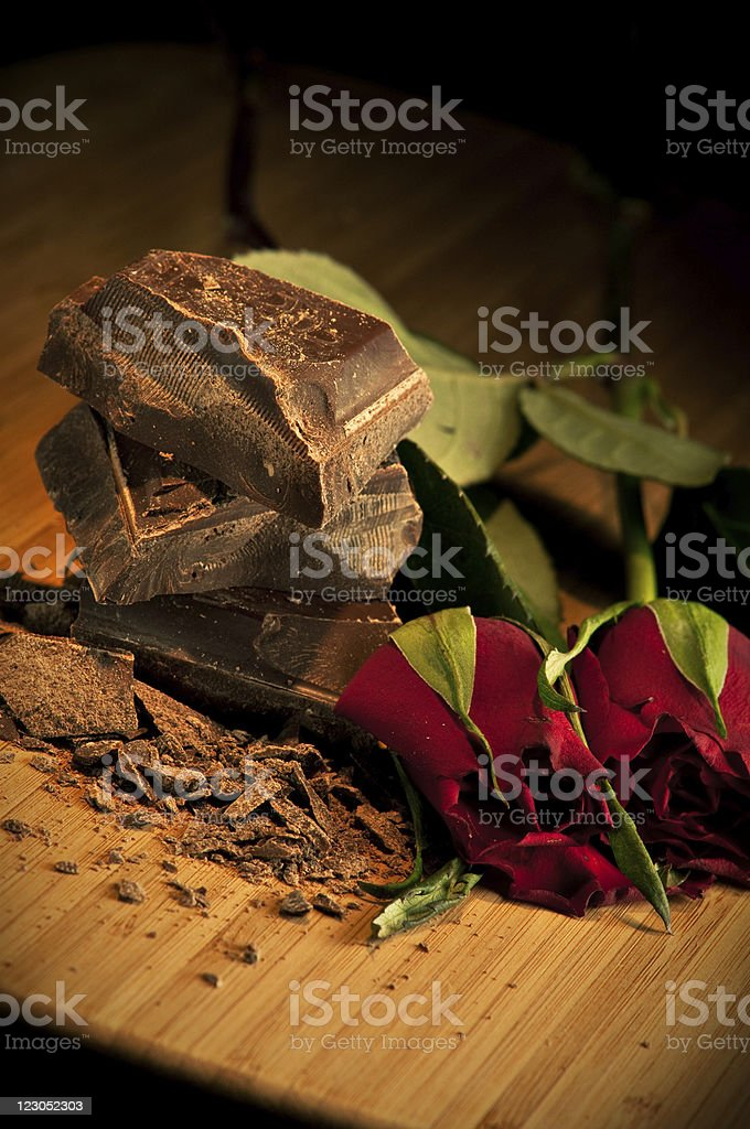 Chocolate & Roses royalty-free stock photo