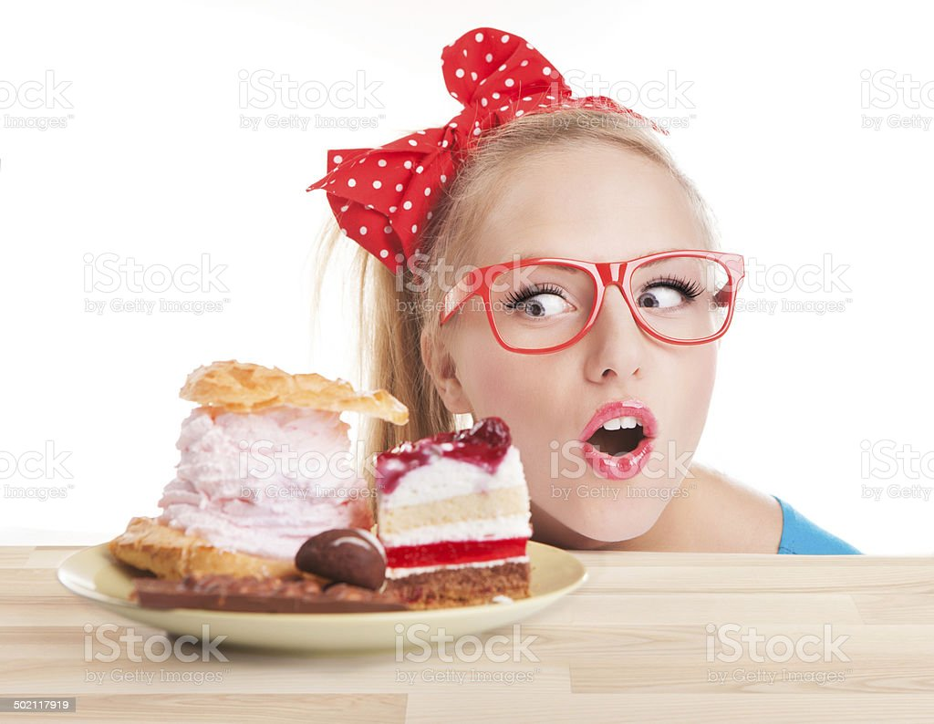 Chocolate and cake sweets temptation stock photo