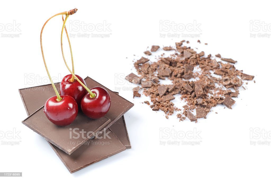 chocolate and cherry royalty-free stock photo