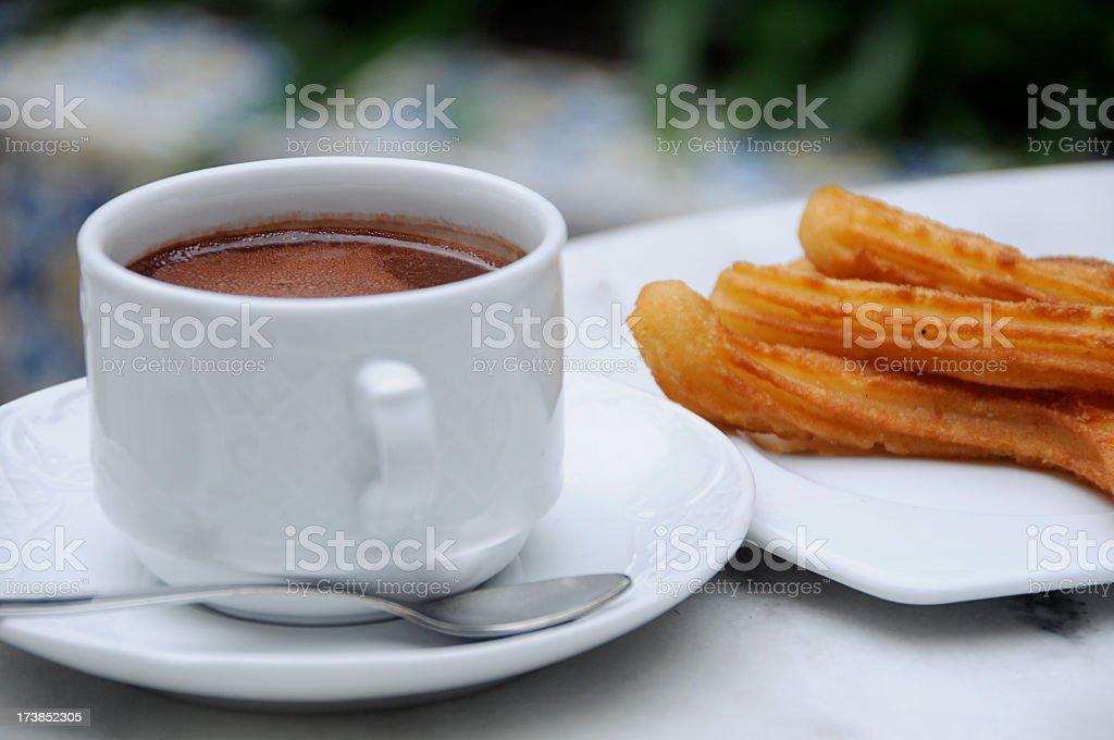 Chocolate and Churros stock photo