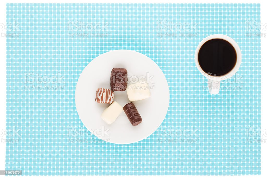 Chocolate and coffee royalty-free stock photo