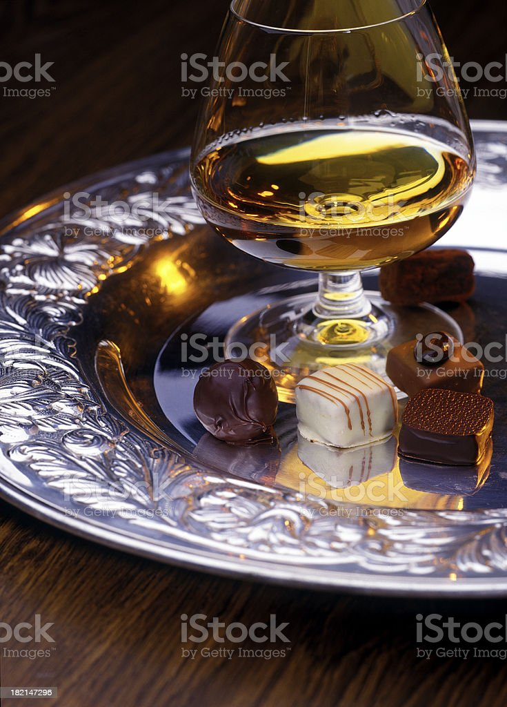 chocolate and cognac royalty-free stock photo