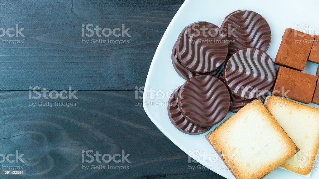 chocolate and cream Lizenzfreies stock-foto