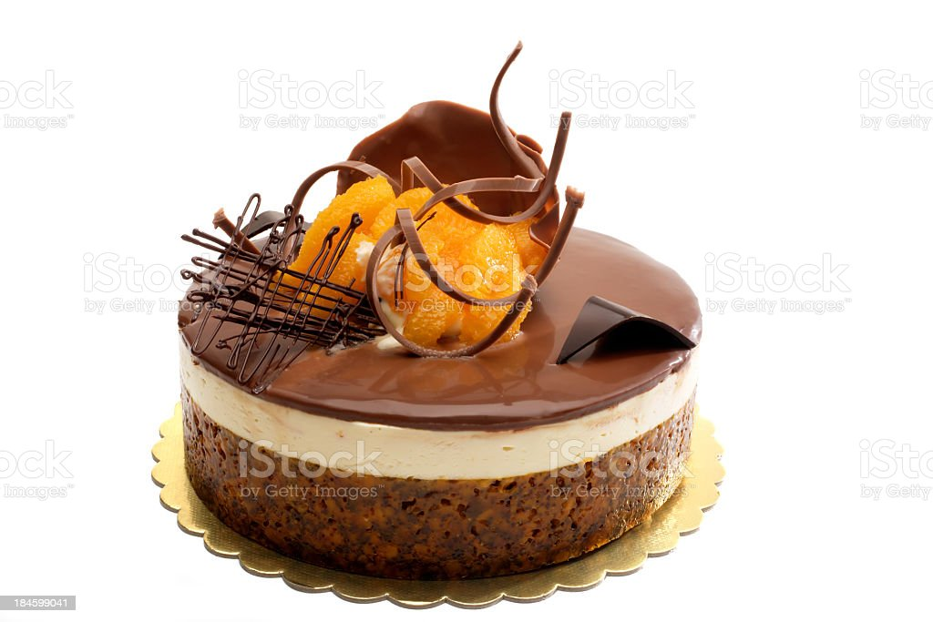 chocolate and orange cake stock photo