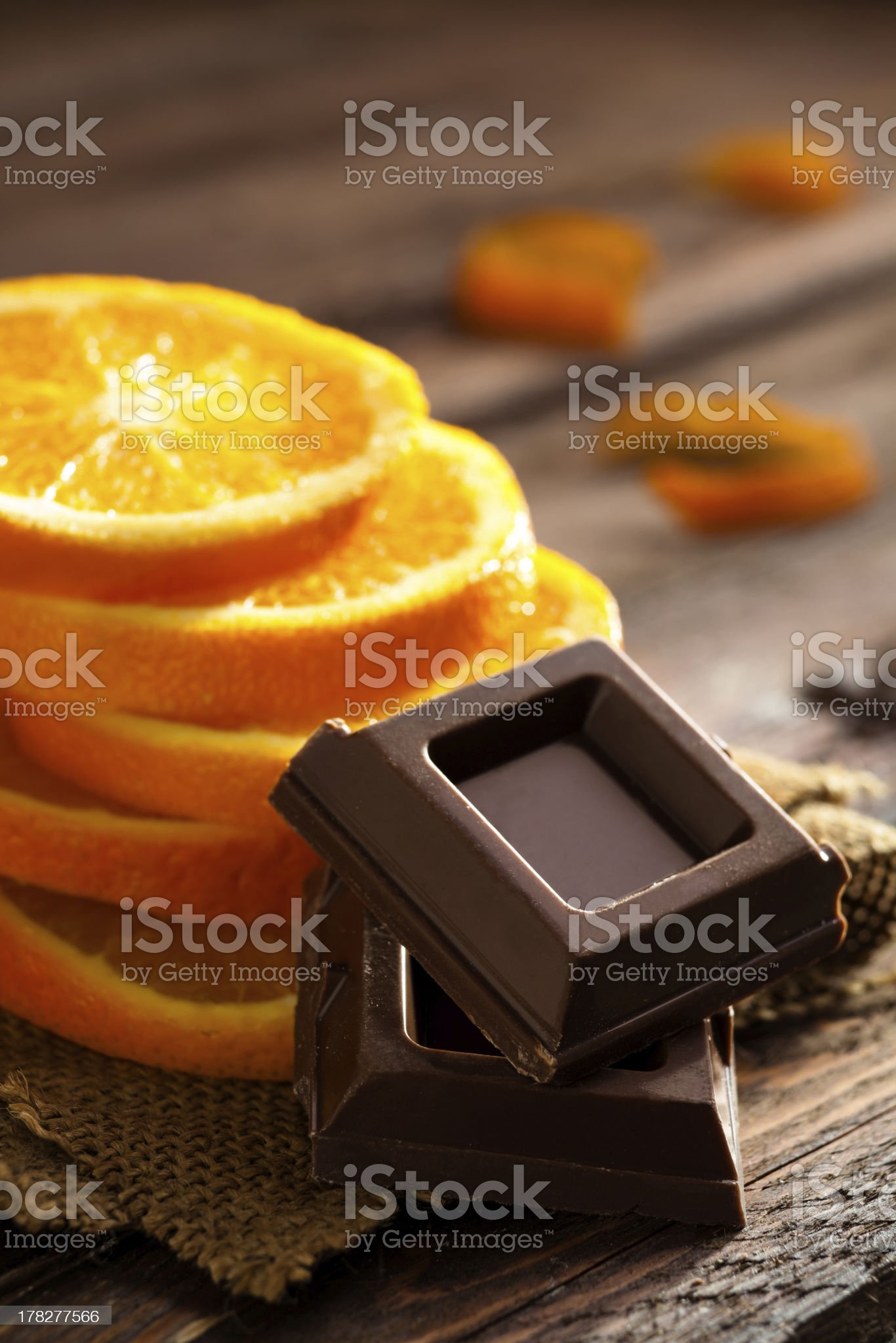 Chocolate and Orange royalty-free stock photo